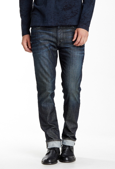Imbracaminte Barbati Star USA By John Varvatos Bowery Straight Leg Jean BLUE STEEL