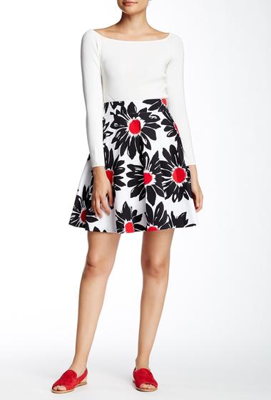 Imbracaminte Femei Amanda Chelsea Daisy Print Circle Skirt Petite WHTBLKRD
