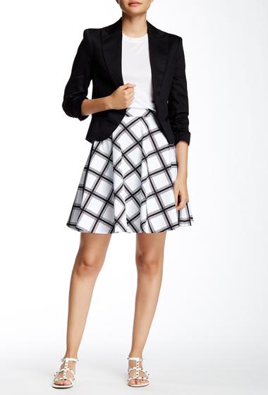 Imbracaminte Femei Amanda Chelsea Bias Print A-Line Skirt Petite WHT-BLK