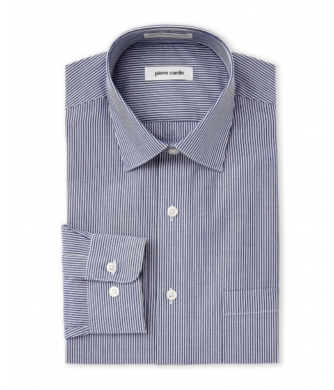 Imbracaminte Barbati Pierre Cardin Navy White Stripe Dress Shirt Navy White