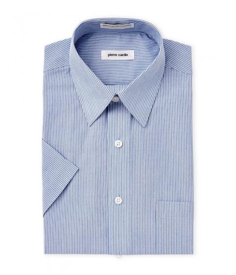 Imbracaminte Barbati Pierre Cardin Blue White Stripe Dress Shirt Blue White