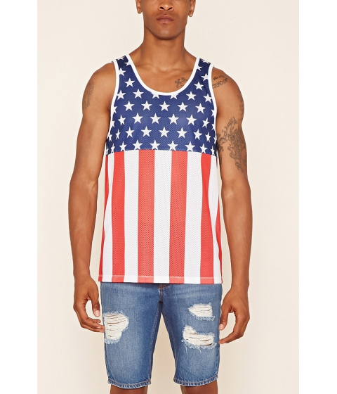 Imbracaminte Barbati Forever21 Stars and Stripes Jersey Redblue