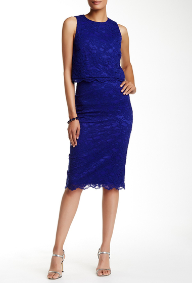 Imbracaminte Femei Nicole Miller Lace Pencil Skirt ROYAL