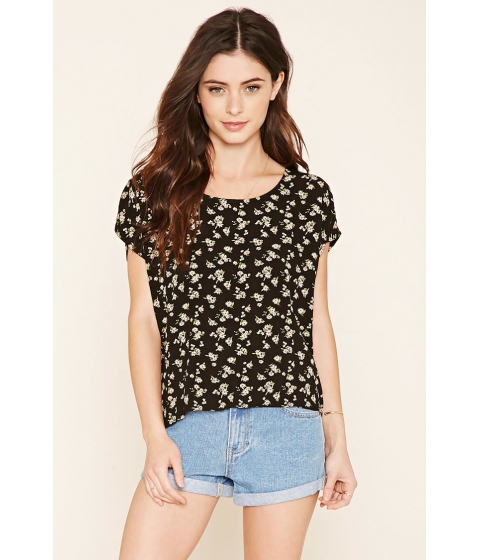 Imbracaminte Femei Forever21 Floral Print Blouse Blackblush