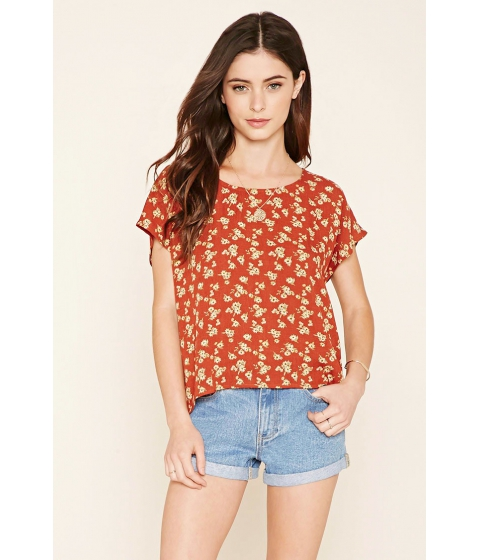 Imbracaminte Femei Forever21 Floral Print Blouse Rustyellow