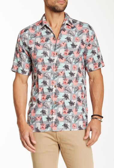 Imbracaminte Barbati Tommy Bahama Castaway Coast Silk Short Sleeve Original Fit Shirt BLACK