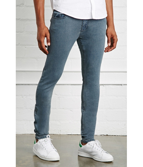 Imbracaminte Barbati Forever21 Clean Wash Slim-Fit Jeans Grey