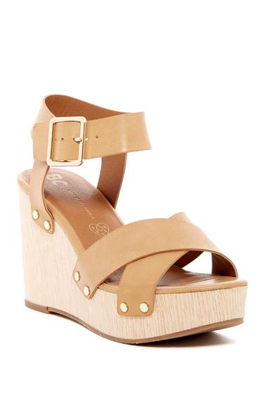 Incaltaminte Femei BC Footwear Teeny Platform Wedge Sandal TAN