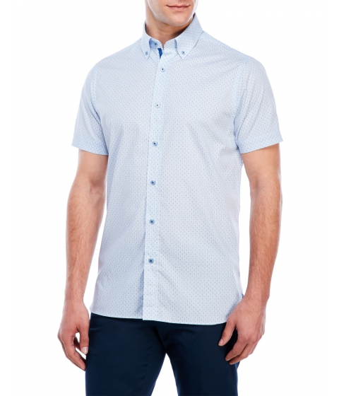 Imbracaminte Barbati Report Collection Geo Box Print Shirt Blue