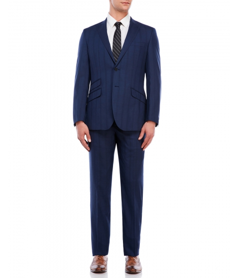 Imbracaminte Barbati English Laundry French Blue Tunnel Plaid Suit Blue