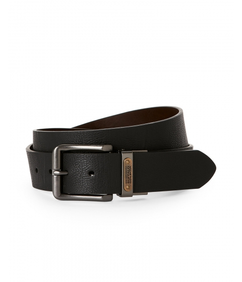 Accesorii Barbati Buffalo David Bitton Black Brown Reversible Leather Belt Black Brown