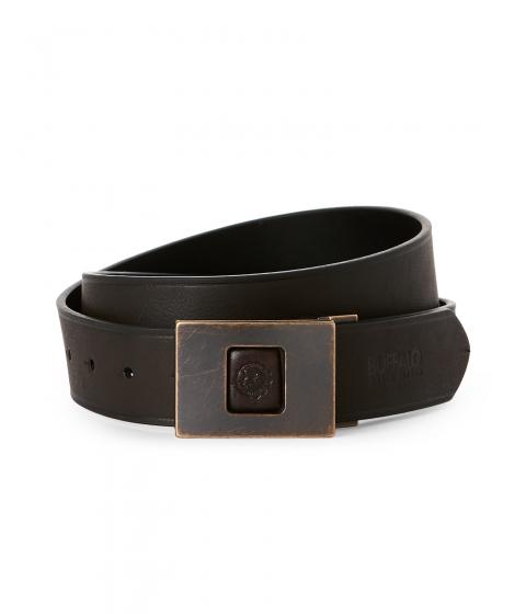 Accesorii Barbati Buffalo David Bitton Logo Plaque Reversible Leather Belt Brown Black