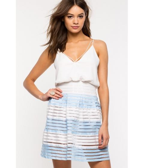 Imbracaminte Femei CheapChic Pastel Blue Flare Skirt Blue Prt