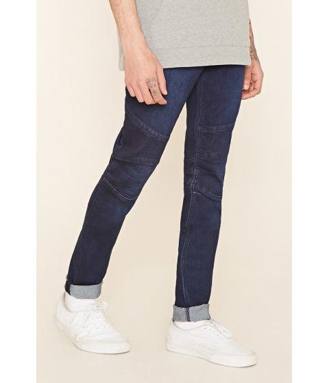Imbracaminte Barbati Forever21 Skinny Moto Jeans Light denim
