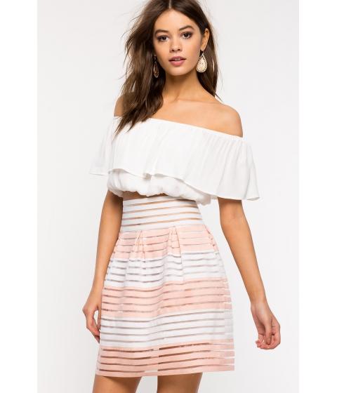 Imbracaminte Femei CheapChic First Date Flare Skirt FuchsiaPink Prt