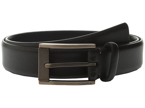 Accesorii Barbati Calvin Klein 35mm Feather Edge Strap and Harness Buckle Belt Chocolate