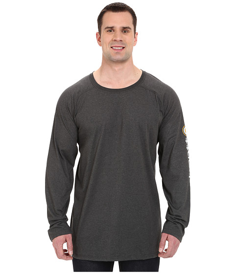 Imbracaminte Barbati Carhartt Big amp Tall Force Cotton Delmont Sleeve Graphic T-Shirt Carbon Heather