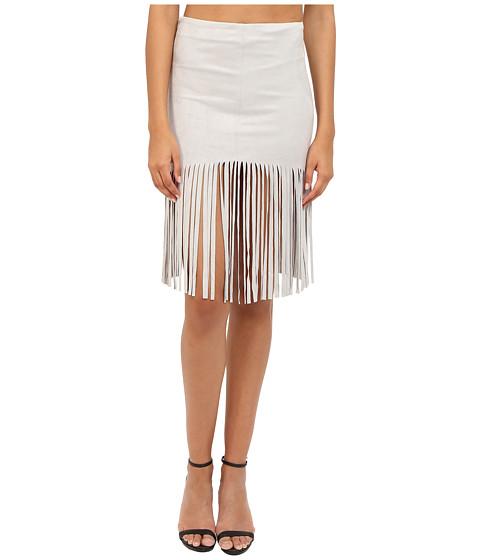 Imbracaminte Femei BB Dakota Jesper Faux Suede Fringe Skirt Light Grey