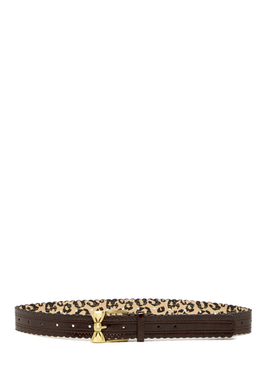 Accesorii Femei Betsey Johnson Scallop Bow Buckle Pant Belt BROWN-OEB