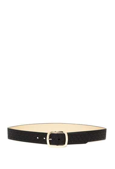 Accesorii Femei Betsey Johnson Quilted Lips Metallic Reversible Belt BLK-GOLD