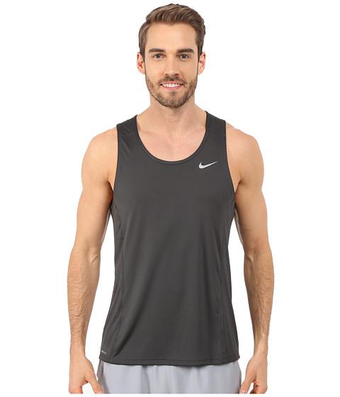 Imbracaminte Barbati Nike Dri-FITtrade Miler Running Singlet AnthraciteReflective Silver