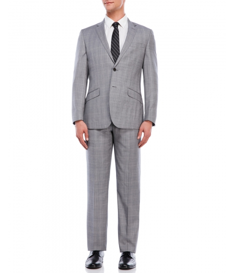 Imbracaminte Barbati English Laundry Light Grey Windowpane Suit Light Grey