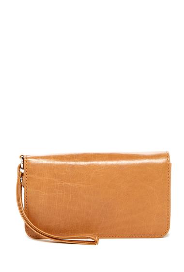 Accesorii Femei Hobo Ally Leather Wristlet Wallet CARAMEL