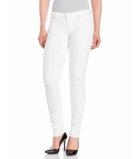 Imbracaminte Femei Levi's White 711 Skinny Jeans White