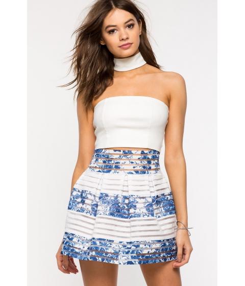 Imbracaminte Femei CheapChic Sea Of Florals Flare Skirt Blue Prt