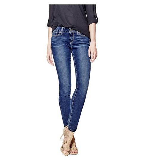 Imbracaminte Femei GUESS Sienna Curvy Skinny Jeans in New Dark Wash natural dark wash
