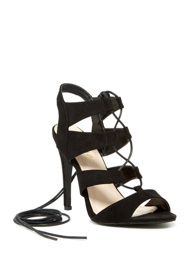 Incaltaminte Femei LILIANA Toni Lace-Up Sandal BLACK