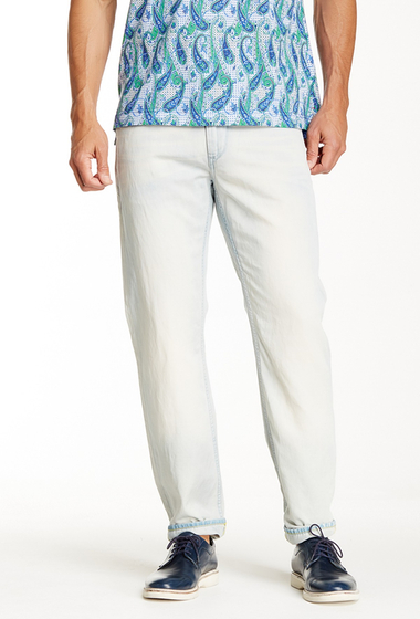 Imbracaminte Barbati Robert Graham Invisible Ink Woven Straight Leg Jean INDIGO
