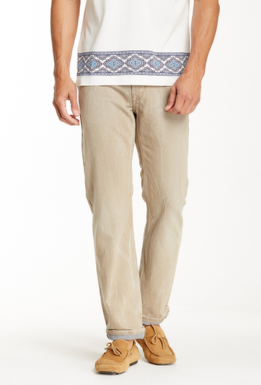 Imbracaminte Barbati Robert Graham Gardner Light Wash Straight Leg Jean KHAKI