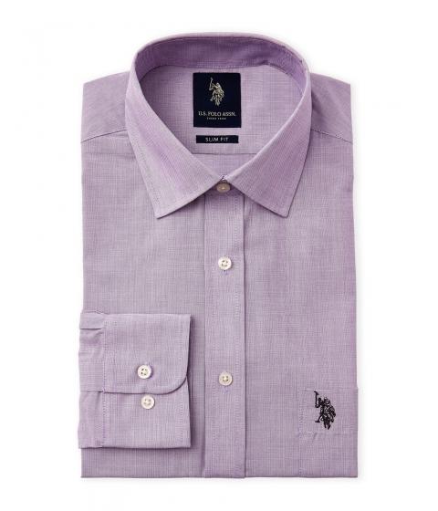 Imbracaminte Barbati US Polo Assn Purple Slim Fit Dress Shirt Purple