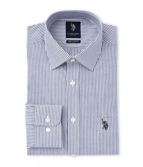 Imbracaminte Barbati US Polo Assn Blue and White Stripe Regular Fit Dress Shirt Blue White