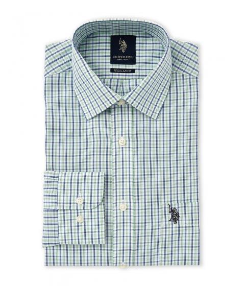 Imbracaminte Barbati US Polo Assn Blue and Green Plaid Regular Fit Dress Shirt Blue Green
