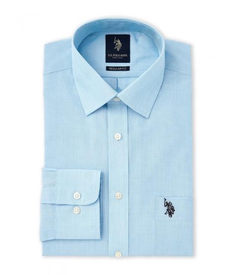 Imbracaminte Barbati US Polo Assn Aqua Regular Fit Dress Shirt Aqua