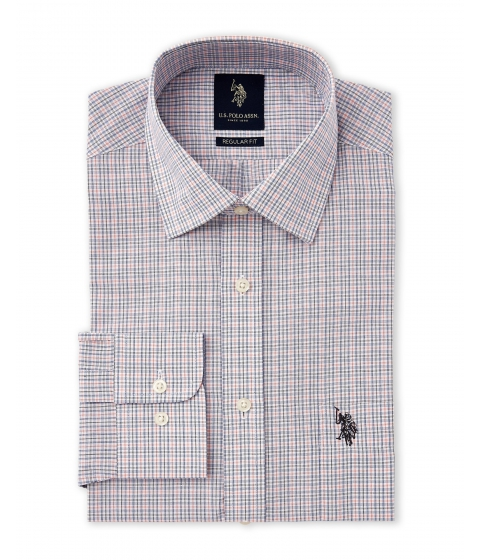 Imbracaminte Barbati US Polo Assn Light Blue White Regular Fit Dress Shirt Light Blue White