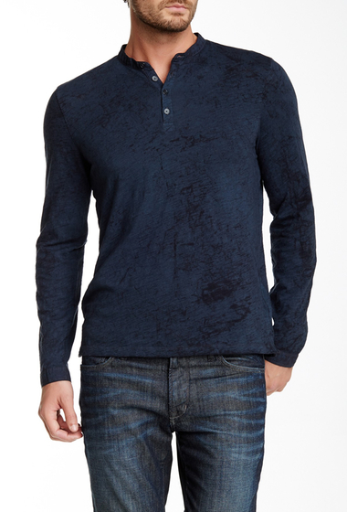 Imbracaminte Barbati Star USA By John Varvatos Long Sleeve Knit Henley BLACK