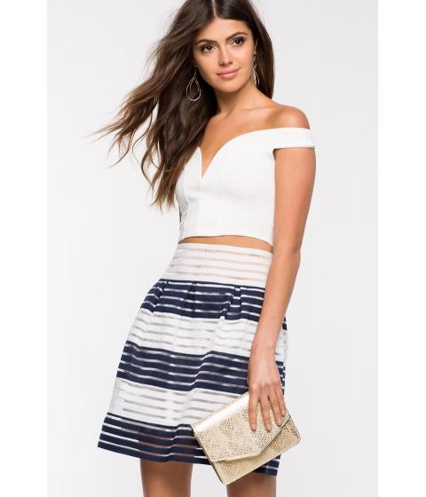 Imbracaminte Femei CheapChic Love Yourself Flare Skirt Blue Ptrn