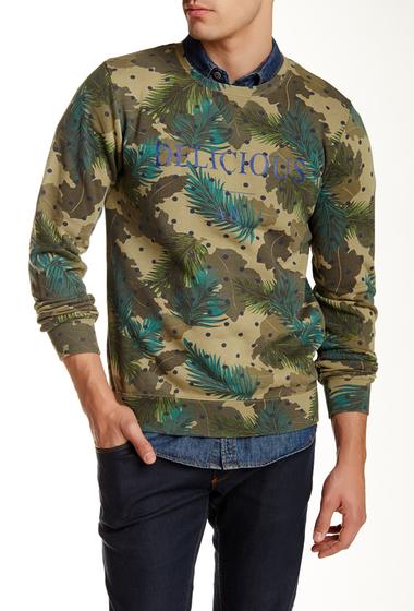 Imbracaminte Barbati Scotch Soda Dandy Printed Crew Neck Sweater GREEN