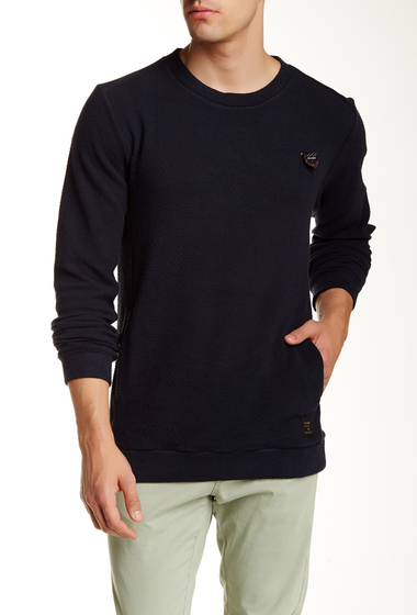 Imbracaminte Barbati Scotch Soda Worked-Out Crew Neck Sweater NAVY BLUE