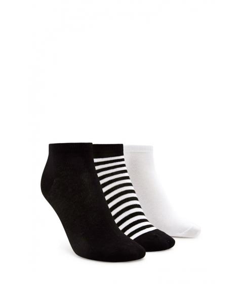 Imbracaminte Femei Forever21 Stripe Ankle Sock Set Blackwhite