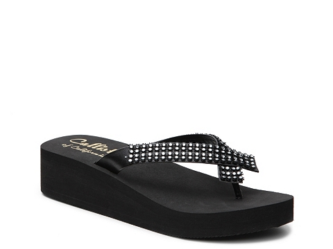 Incaltaminte Femei Callisto of California Montego Wedge Sandal Black