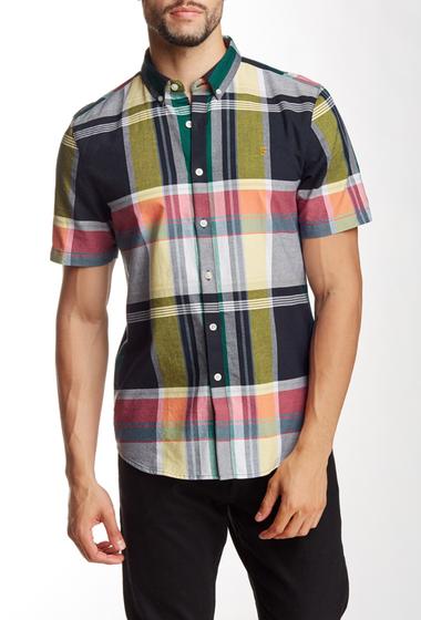 Imbracaminte Barbati Farah Vintage Croxted Slim Fit Short Sleeve Shirt true navy