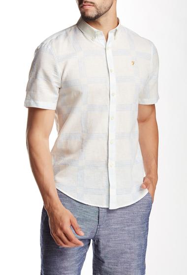 Imbracaminte Barbati Farah Vintage Holme Slim Fit Short Sleeve Shirt ecru