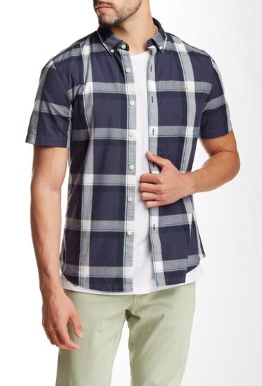 Imbracaminte Barbati Farah Vintage Herne Slim Fit Short Sleeve Shirt true navy