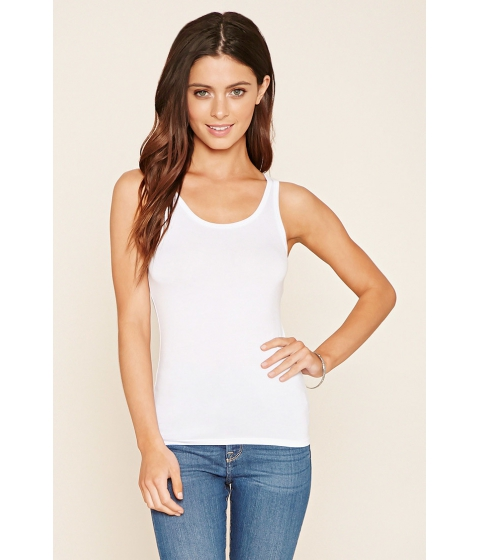 Imbracaminte Femei Forever21 Scoop Back Tank White