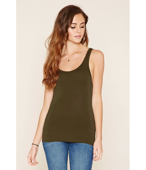 Imbracaminte Femei Forever21 Scoop Back Tank Light olive