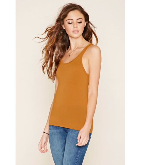 Imbracaminte Femei Forever21 Scoop Back Tank Gold
